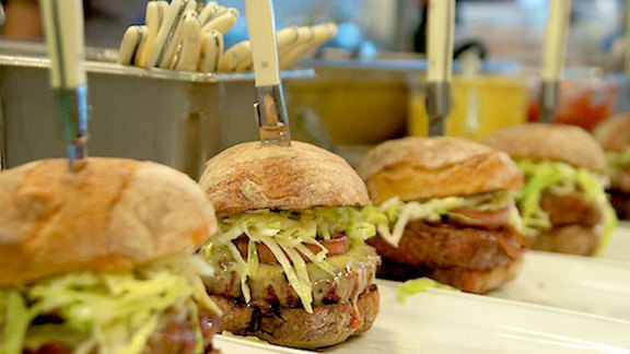 "Chef Joshua McFadden reviews ""Le Pigeon"" burger at Little Bird Bistro"