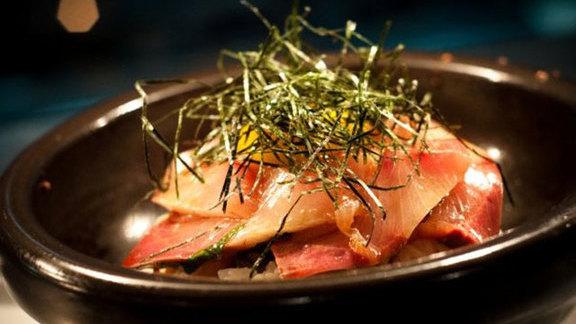 Chirashi rice bowl at Morimoto