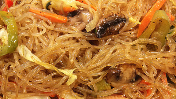 Chop chae at San Soo Gab San