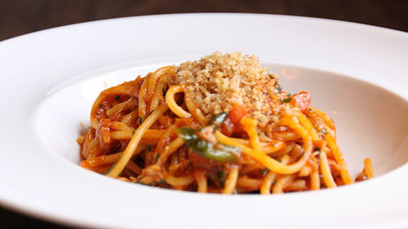 Dungeness crab spaghetti at Catch