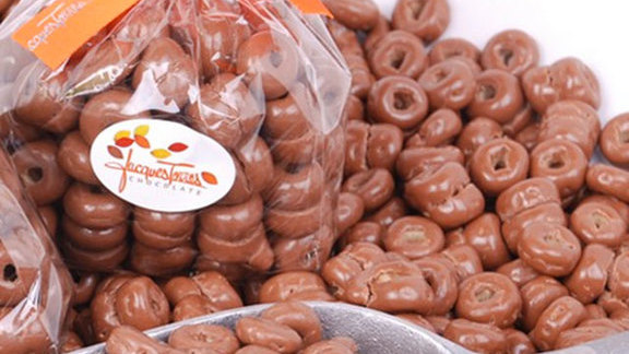 Chocolate covered Cheerios at Jacques Torres Ice Cream Shop