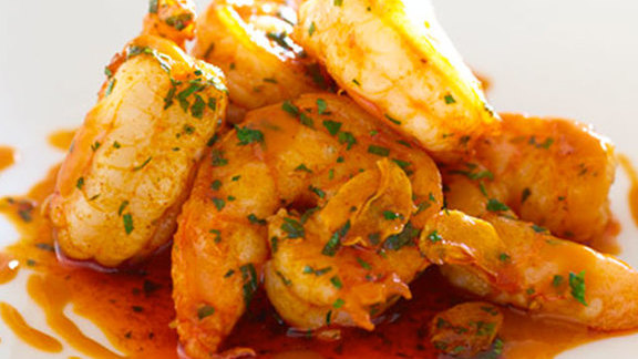 Chef Franklin Becker reviews Shrimp alhinho at Aldea