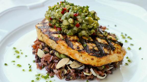 Chef Kurt Gutenbrunner reviews Grilled Atlantic swordfish at