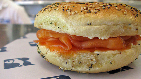 Smoked salmon at Russ & Daughters