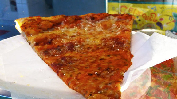 Cheese pizza at Two Boots Park Slope