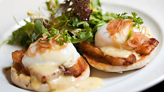 Berkshire pork Benedict at The National Bar & Dining Rooms