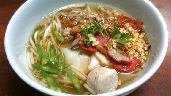 Tom yum noodle at Pa-Ord Noodle