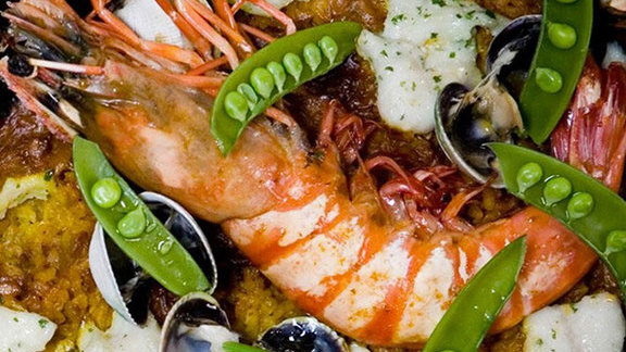 Fideua w/ seafood at SOCARRAT Paella Bar - Nolita