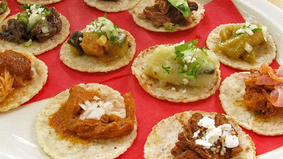 Probaditas taco sampler at Lotería Grill