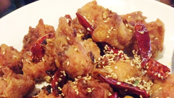Szechuan chicken wings with peppercorn at Sichuan Fortune House