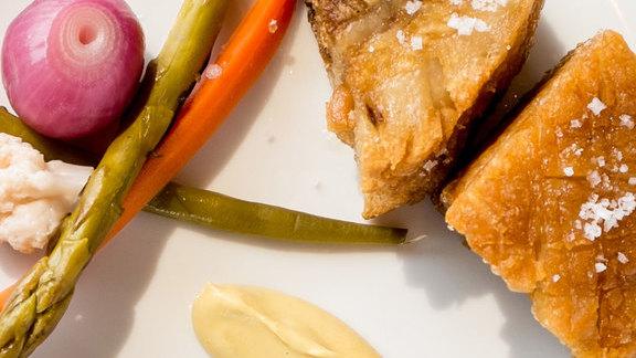 Pork rillaud at La Grande Bistro Americain
