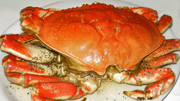 Roast crab at Thanh Long