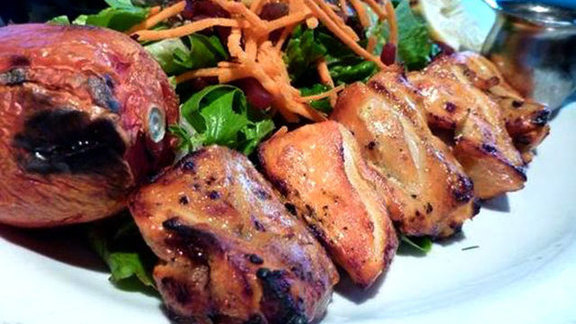 Boneless chicken kebab at Flame Persian Cuisine