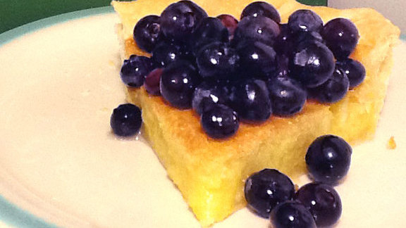 Chef Marianne Sundquist reviews Lemon chess pie w/ sticky blueberries at