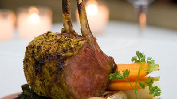 Chef Joey Campanaro reviews Grilled rack of lamb at Gotham Bar and Grill
