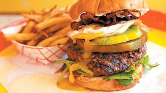 Chef Johnny Anderes reviews Any burger at Edzo's Burger Shop