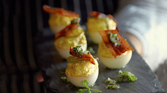 Chef Melissa Perello reviews Smoked deviled eggs at