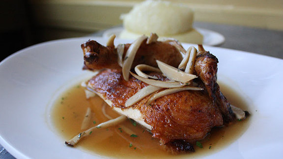 Roasted Fulton Valley chicken at Delfina