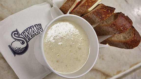 Clam chowder at Swan Oyster Depot