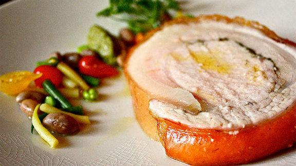 Chef Jennifer Puccio reviews Porchetta della casa at Cotogna