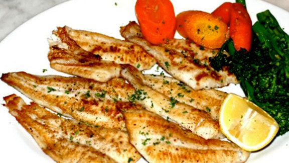 Grilled sand dabs at Sotto Mare Oysteria and Seafood Restaurant