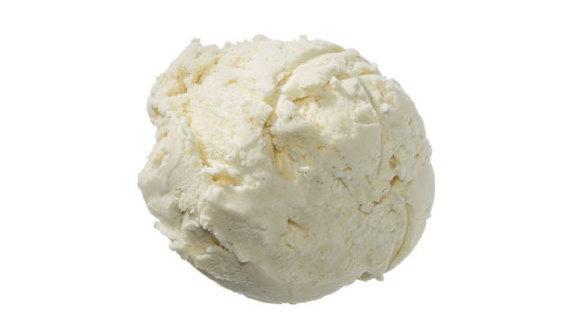 Tahitian vanilla ice cream at