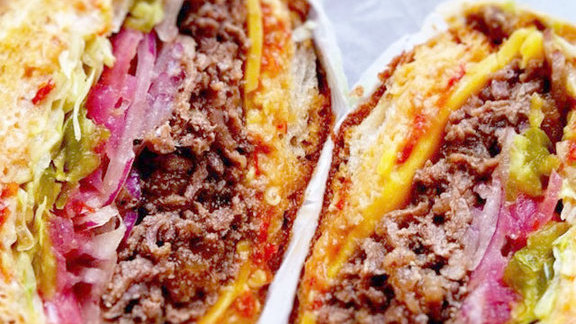 Korean steak sandwich at Rhea's Market & Deli