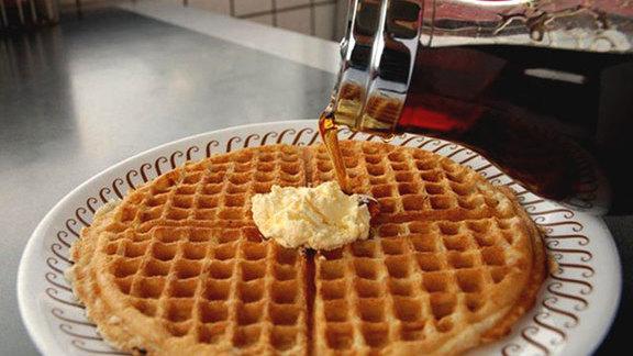 Pecan waffle at Waffle House