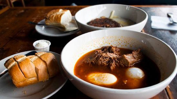 Chef Kevin Gillespie reviews Brisket breakfast at
