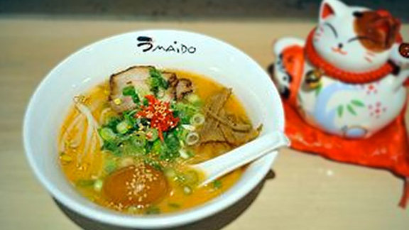 Spicy miso ramen at Umaido Ramen
