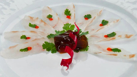 Fluke sashimi at Tomo