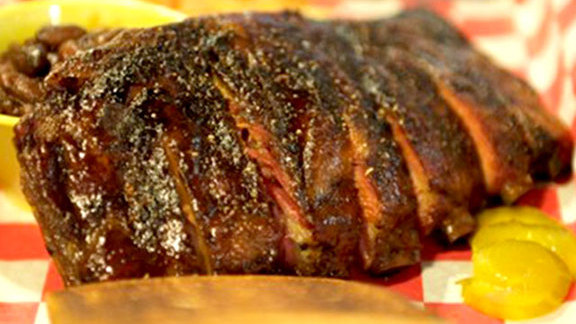 St. Louis style ribs at Community Q BBQ