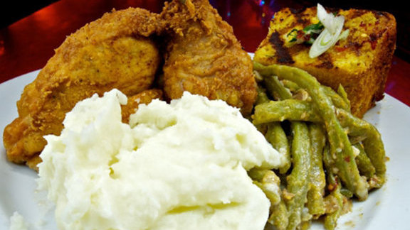 Buttermilk fried chicken at Silk City Diner Bar & Lounge
