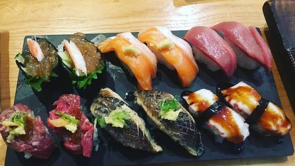 Chef Jared Michael Ferguson reviews Nigiri sushi at Komé