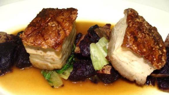 Berkshire pork belly at Fond