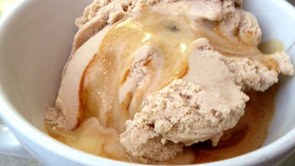 Hazelnut gelato affogato at Capogiro Gelato