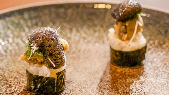 Fried kumamoto oysters at O Ya