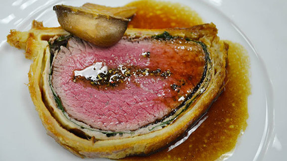 Cumbrae beef Wellington at Café Boulud