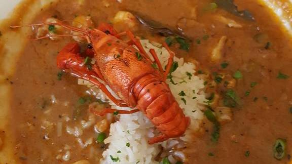 Crawfish etouffe at Muriel's Jackson Square