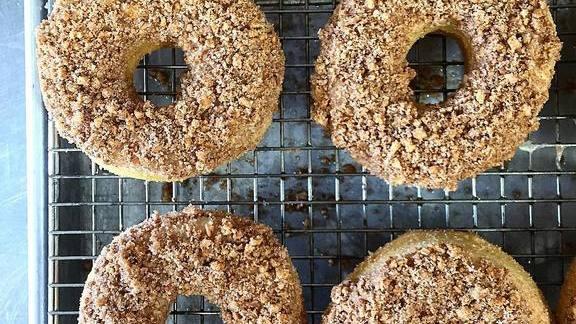 Cashew snickerdoodle donuts at Oak + Rowan