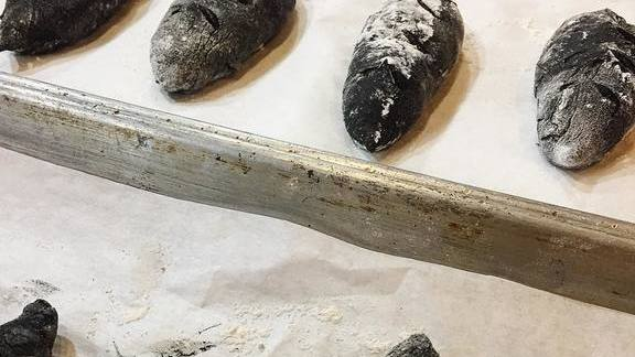 Squid ink baguettes at Juniper & Ivy
