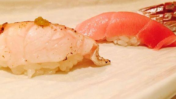 Nigiri rolls at Kabuto Edomae Sushi
