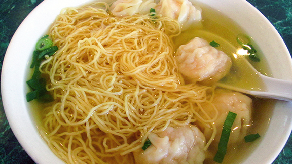 Shrimp wonton noodle soup at Noodle Village 粥麵軒