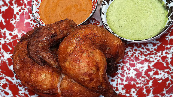 Chef David Myers reviews Cracklin' Beer Can Chicken at