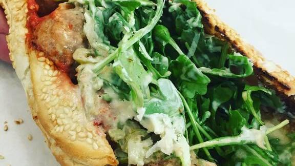 Meatball sandwich at Say Hey Cafe