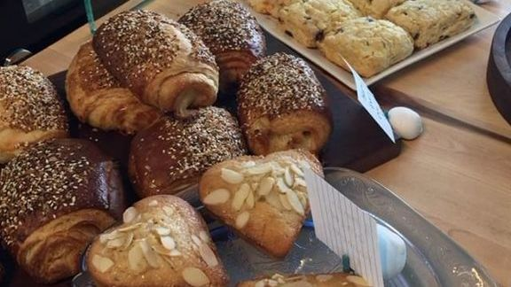 Pastries, scones and sesame croissants at Rockaway Beach Bakery