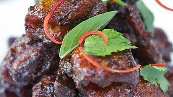Spicy chicken pops at Lukshon