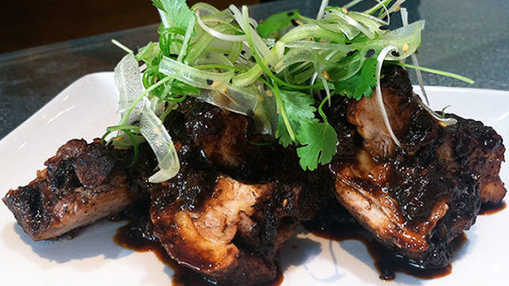 Spicy chicory coffee BBQ ribs at Lukshon