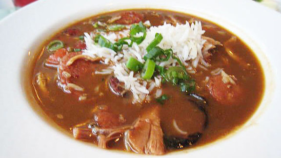 Chicken & andouille sausage gumbo at Steelhead Diner