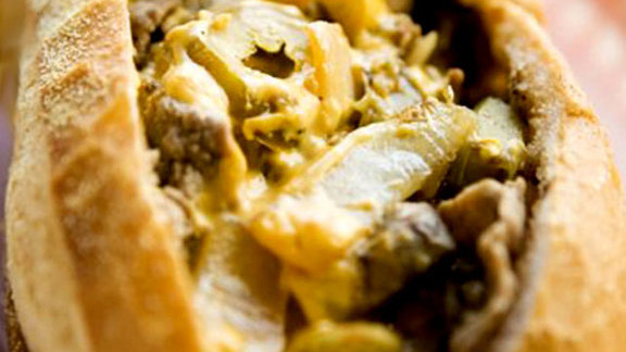 Chef Jason Stoneburner reviews Philly cheesesteak at